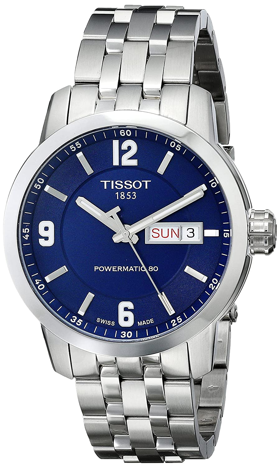 66c29bf84 Buy Tissot Men's T0554301104700 PRC 200 Analog Display Swiss Automatic  Silver-Tone Watch Online at Low Prices in India - Amazon.in