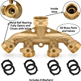 Morvat Heavy Duty Brass Garden Hose Connector Tap Splitter (4)