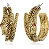 "Betsey Johnson ""Garden of Excess"" Snake Wrap Hoop Earring"