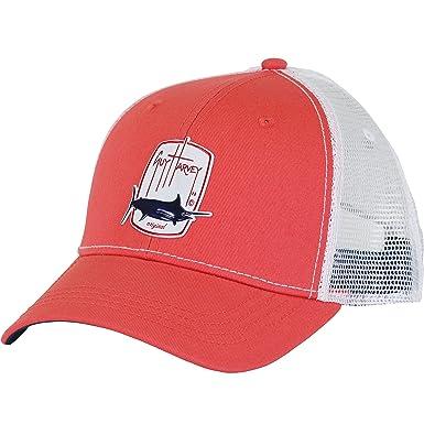 43c037bfeac29 Amazon.com  Guy Harvey Trucker Barrel Roll Ball Cap One Size Red ...