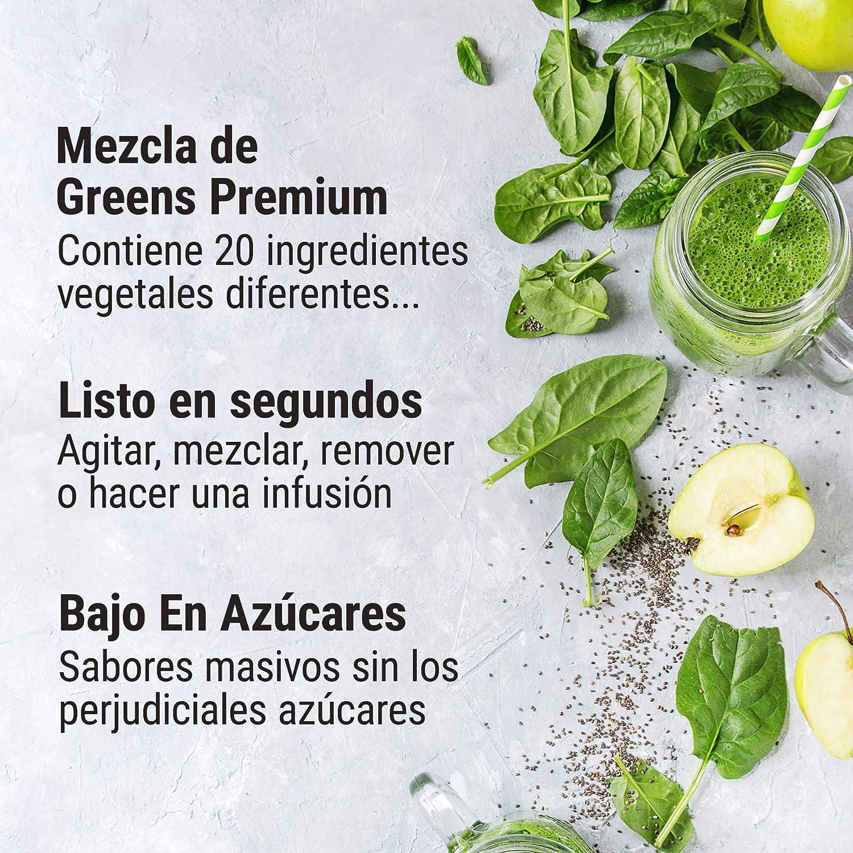 THE PROTEIN WORKS Super Greens Extreme Powder | 20 Verduras Diferentes | Ayuda a Proteger tu Sistema Inmunológico | Vegano, Bajo en Azúcar | Explosión ...