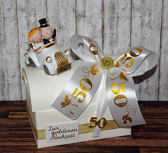 Geld Geschenk Zur Goldenen Hochzeit Geschenkbox Mit Auto