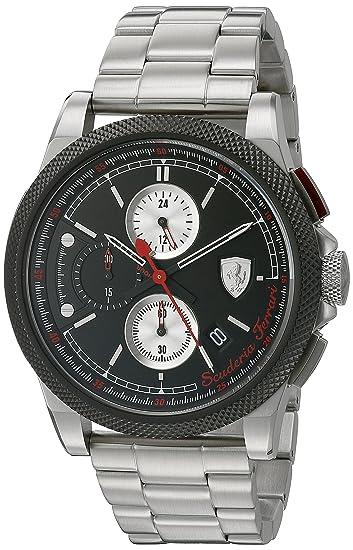 Scuderia Ferrari 0830317 - Reloj de pulsera hombre, color Bicolor