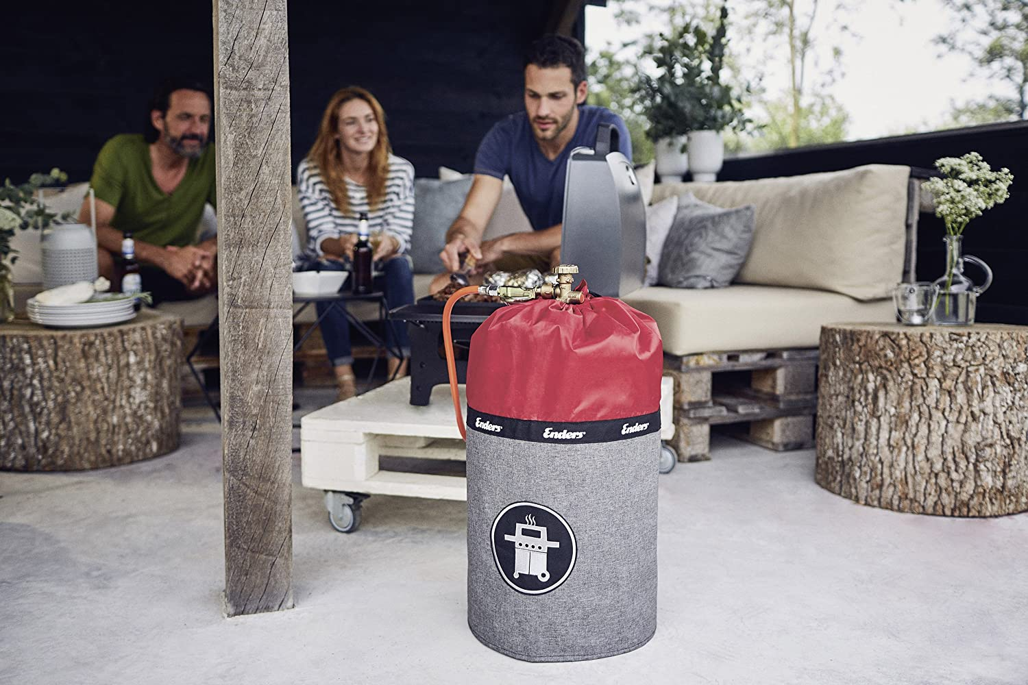 Enders Gas Cylinder Cover Style red 36x36x49 cm