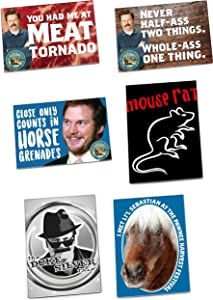 Parks and Recreation Merchandise, Magnets by Papersalt, Set of 6