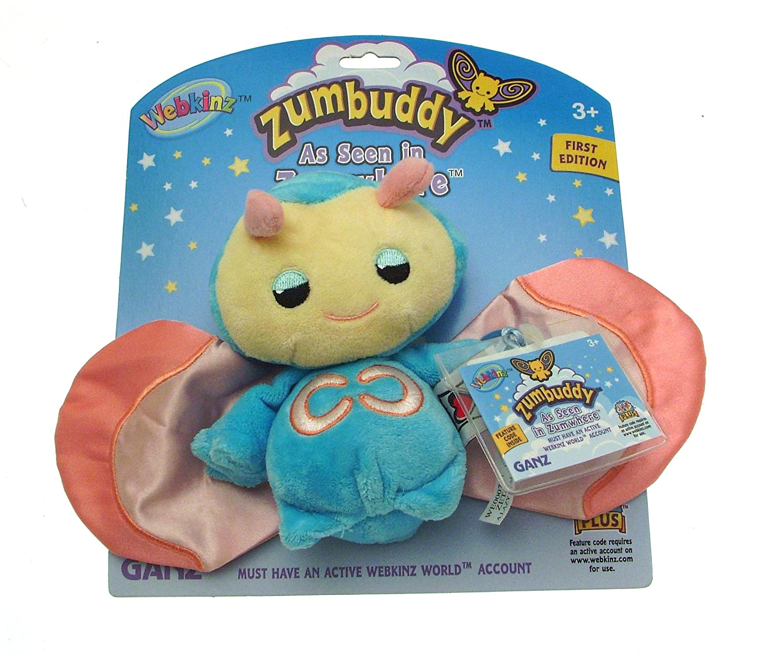 Webkinz Zumbuddy Zeta the Blue Lazy Zum First Edition