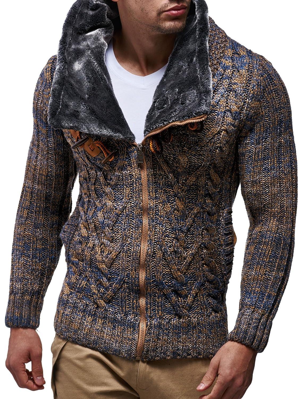 LEIF NELSON Men's Knit Jacket LN20523