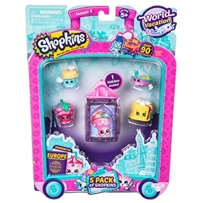 Shopkins S8 Europe Toy 5 Pack: Toys & Games