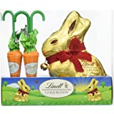 Lindt Milk Chocolate Gold Bunny and Carrots Easter Gift, 140 g, Pack of 2
