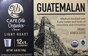 Cafe Ole Organic Guatemalan Light Roast Single Serve Coffee K-Cups