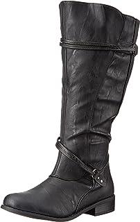 Amazon.com   Onlineshoe Women's Gold Heel Detail Extra Wide Calf ...