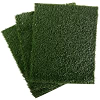 PETMAKER Replacement Grass Mats- Set of 3 Turf Pads for Puppy Potty Trainer (Tray System Not Included)- Indoor Restroom…