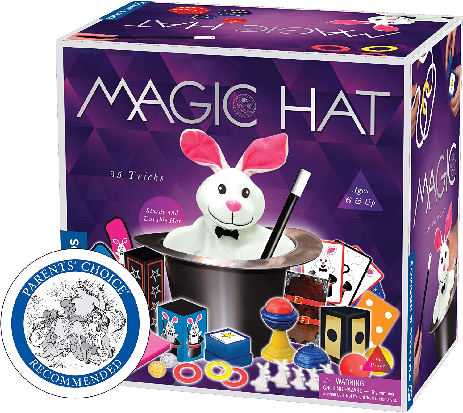 Thames & Kosmos Magic Hat with 35 Tricks | 24-Page Illustrated Instruction in Full Color | for Magicians Ages 6+: Toys & Games