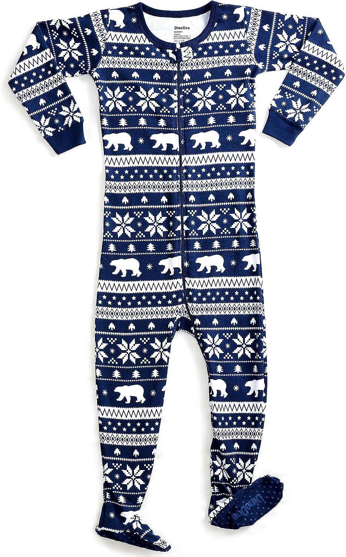 6 Months-5 Toddler DinoDee Baby Boys Girls Footed Pajamas Sleeper 100/% Cotton Kids Pjs