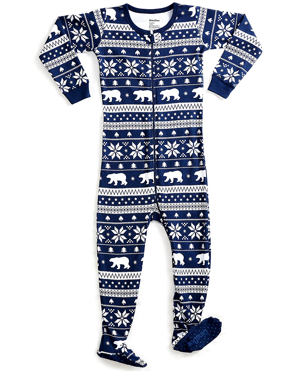 70ddc47352 DinoDee Baby Boys Girls Footed Pajamas Sleeper 100% Cotton Kids Pjs ...