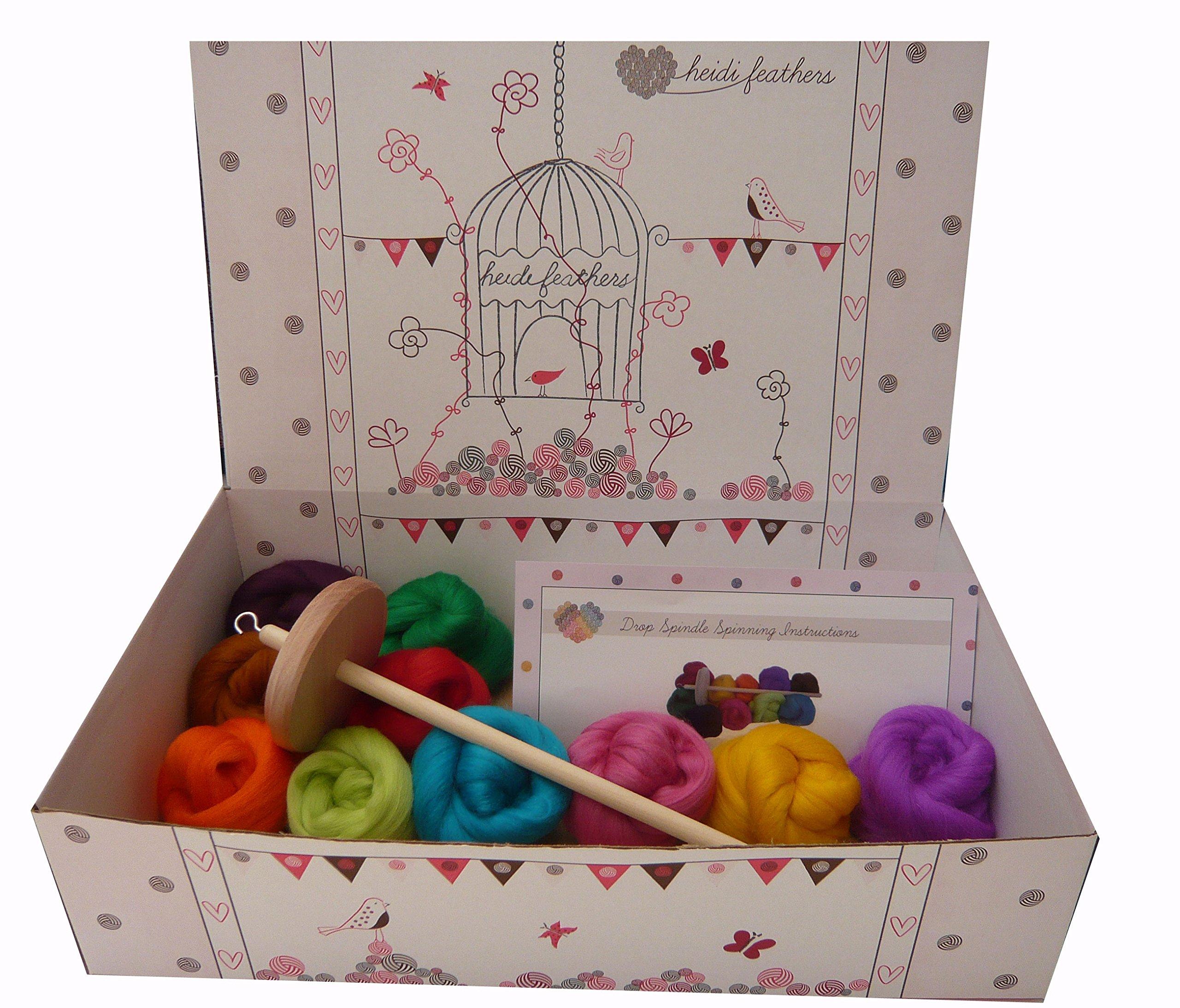 Heidifeathers Starter Spinning Kit - Merino Wool