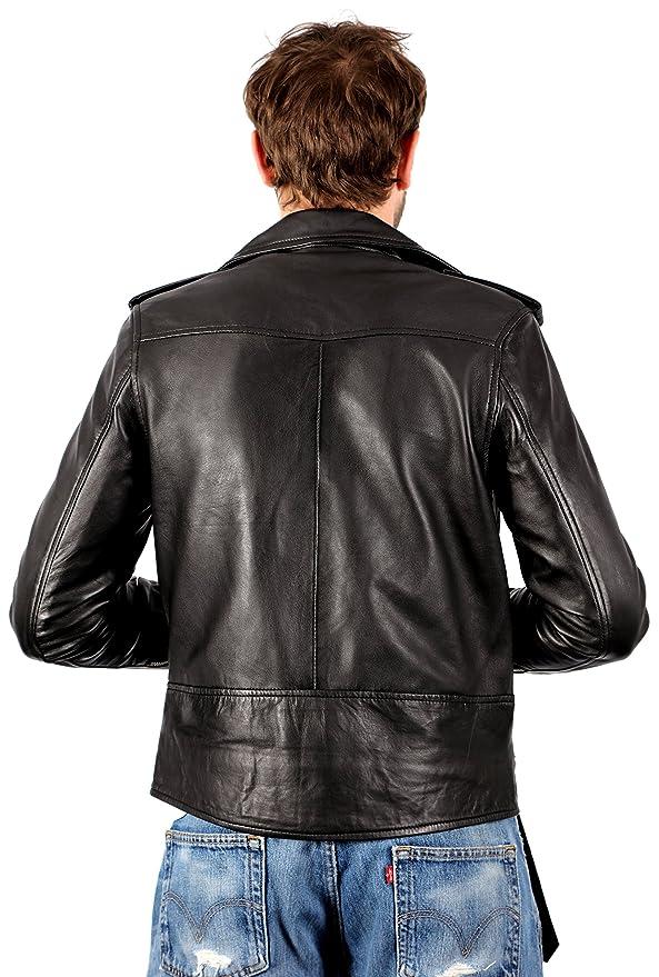Amazon.com: infinity para hombre vintage Brando Casual piel ...