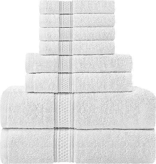 Utopia Towels Premium 700 GSM 8 Piece Towel Set; Dark Grey