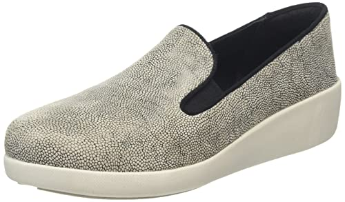 Fitflop F-Pop Skate, Mocasines para Mujer, (Stone Pebbleprint), 40.5 EU: Amazon.es: Zapatos y complementos
