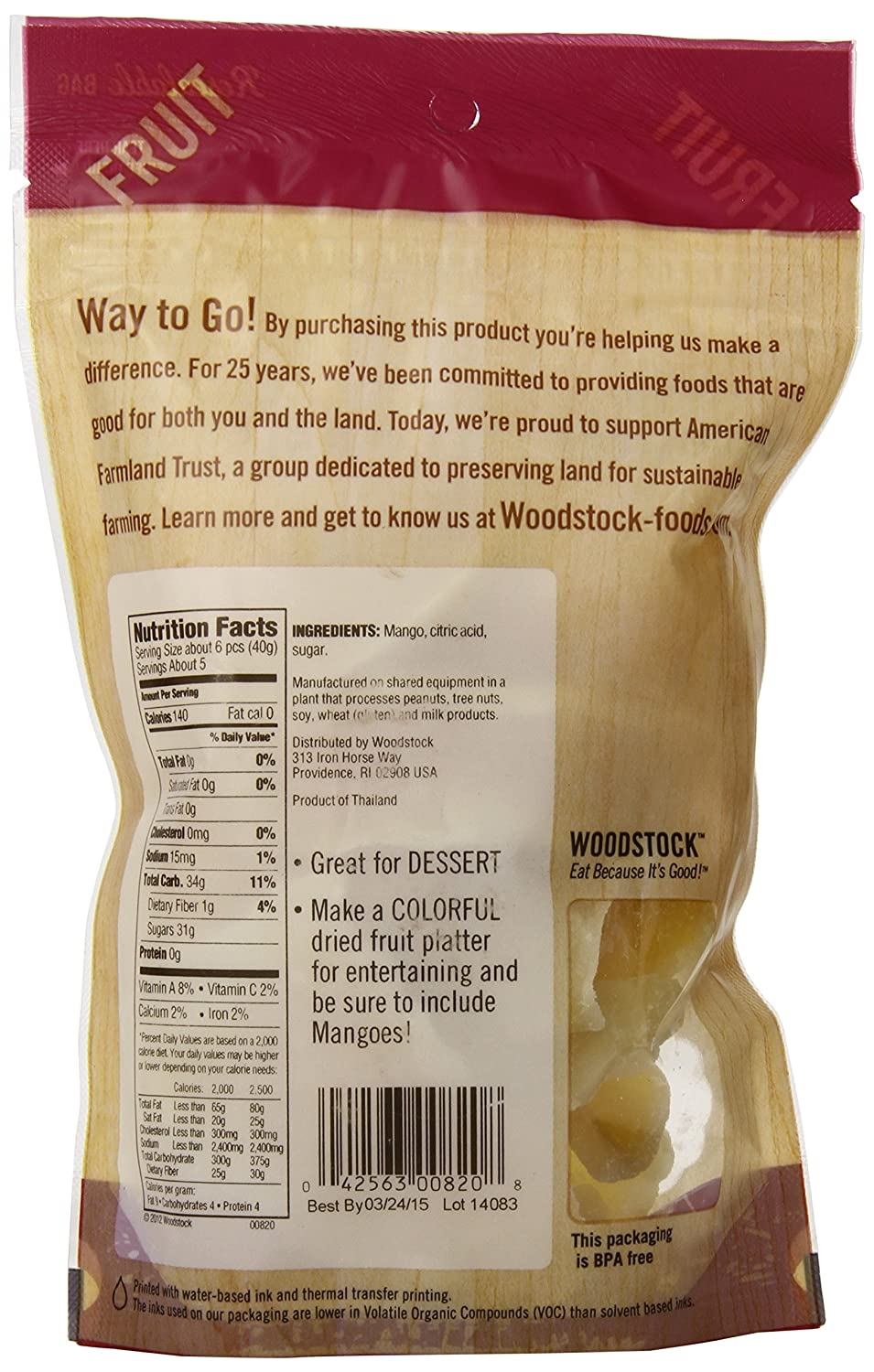 Woodstock Allnatural Mango Slices, Low Sugar, 75 Ounce: Amazon: Grocery &  Gourmet Marinades, Condiments, And Readytoeat Snacks