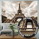 Papier peint photo avec la Tour Eiffel – décoration romantique photo mural XXXL poster – décoration murale avec la tour Eiffel à Paris by GREAT ART (210 cm x 140)