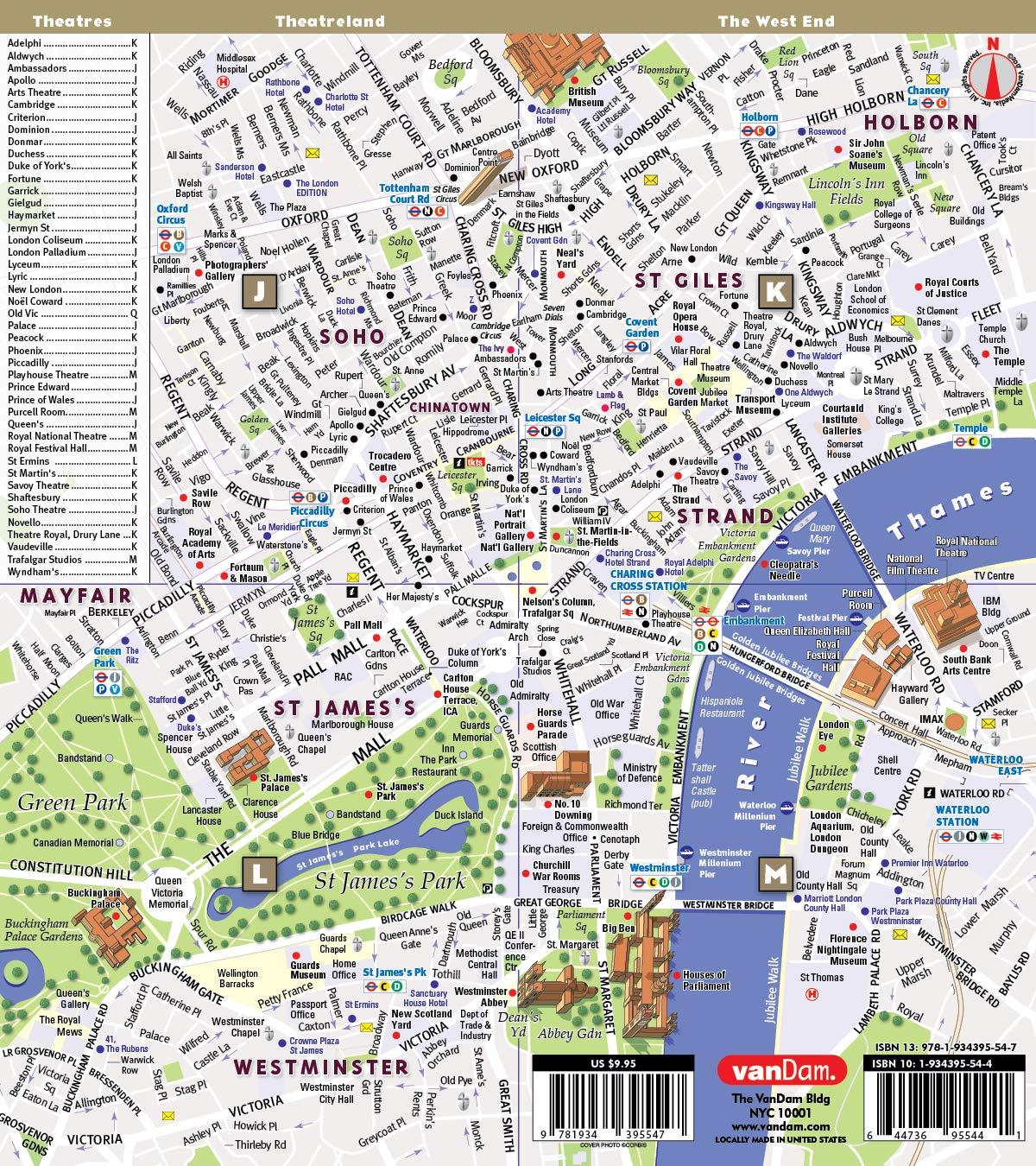 Streetsmart Paris Map By Vandam City Street Map Of Paris France
