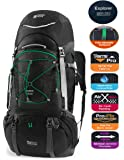 TERRA PEAK Adjustable Hiking Backpack 55L/65L/85L+20L for Men Women With Free Rain Cover Included Black Navy