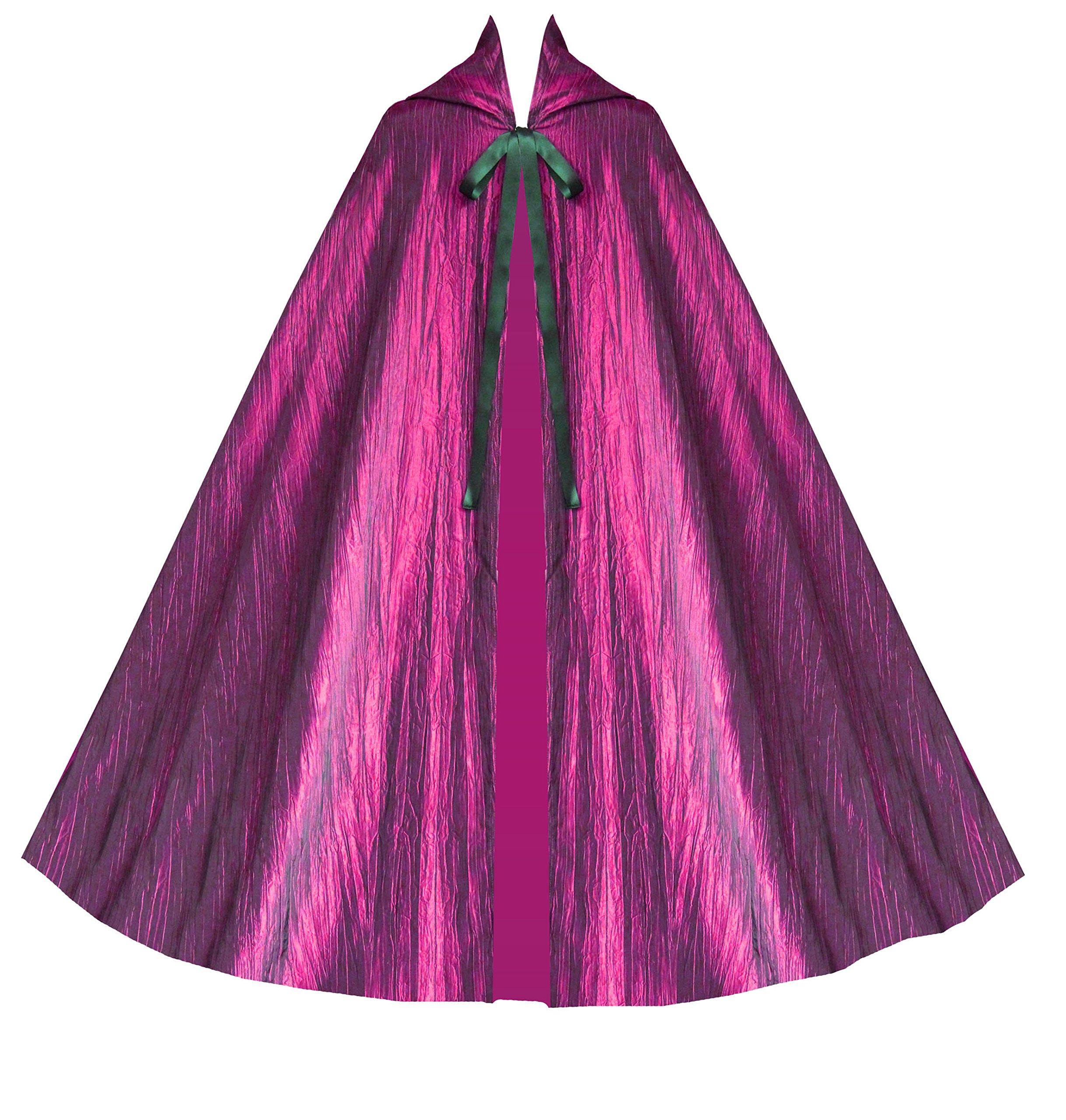 Cykxtees Historical Gothic Steampunk Victorian Hooded Renaissance Short Capelet Cloak 3
