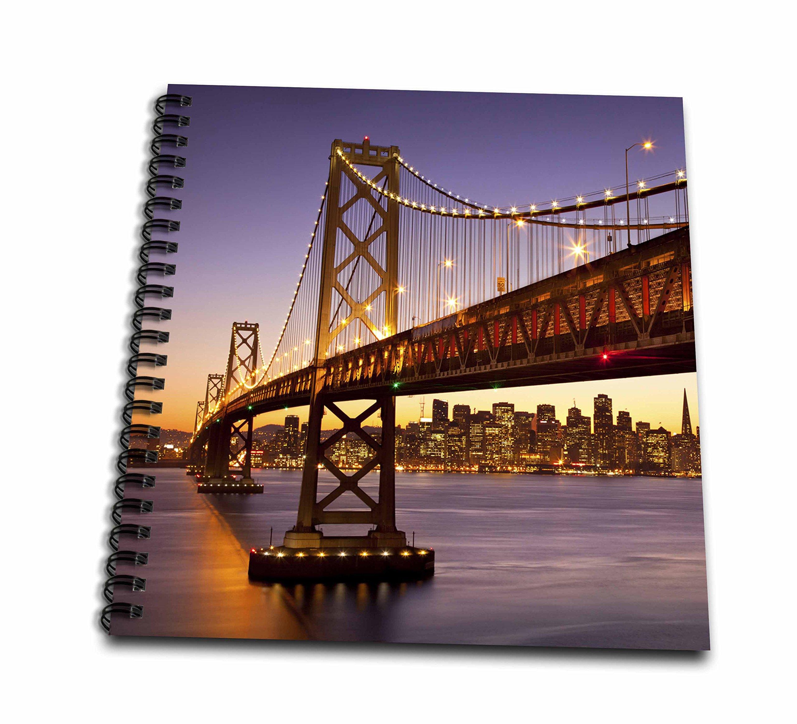 3dRose 3D Rose Twilight at The Bay Bridge with San Francisco Beyond, California, USA - Memory Book, 12-inch (db_189524_2), 12'' x 12''