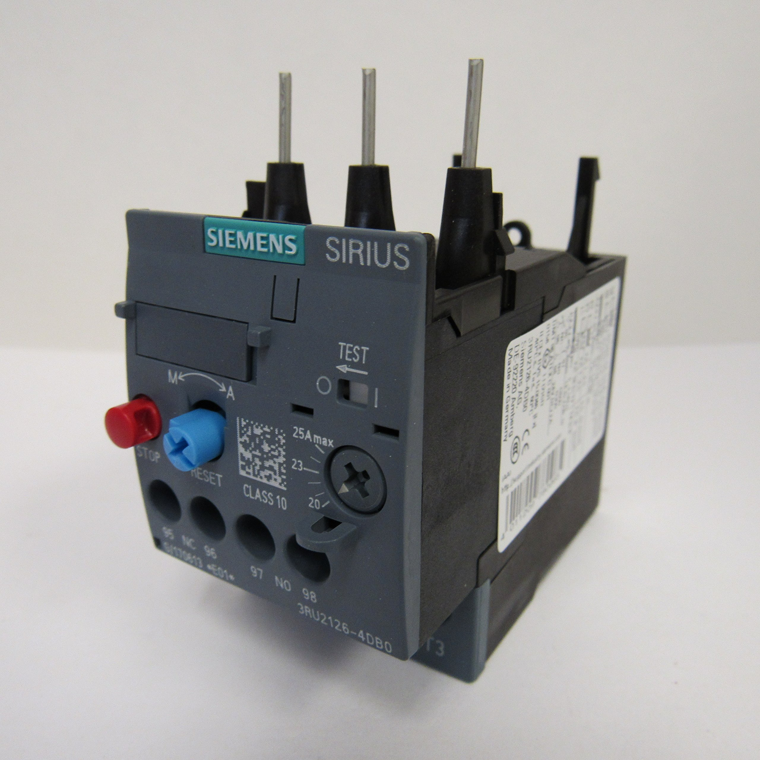 SIEMENS 3RU2126-4DB0 OVERLOAD RELAY 20-25 AMP
