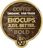 EKOCUPS Artisan Organic Bold Coffee, Dark roast, in Recyclable Single Serve Cups for Keurig K-cup Brewers, 40 count