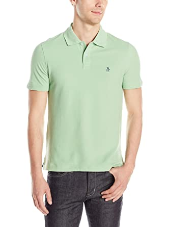 Original Penguin Camisa de Pop Basic - Polo para Hombre - Verde ...