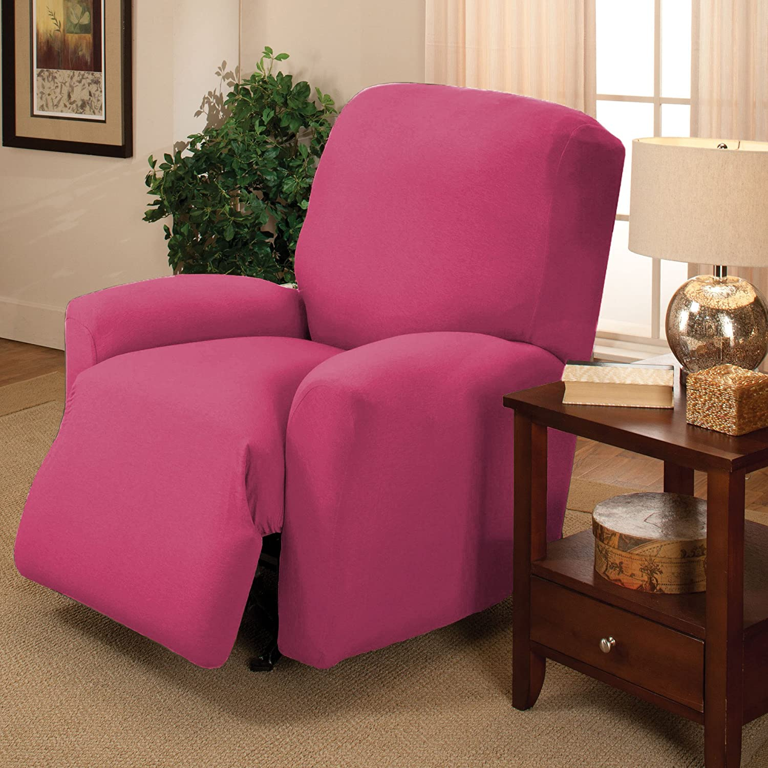Amazon Stretch Jersey Recliner Slipcover Pink Home & Kitchen