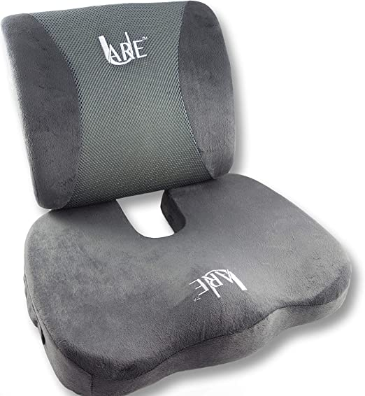 Amazon Com Cool Gel Memory Foam Seat Cushion With Rain Cover And Lumbar Support Pillow For Office Chair And Car Seat Cushions Ultimate Comfort Set Relieves Back Pain Tail Bone Pain Sciatica