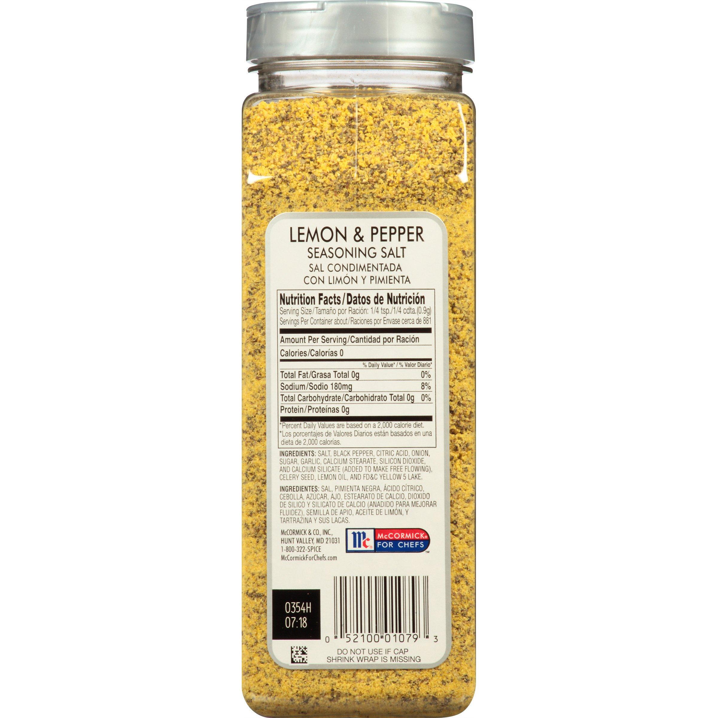McCormick Culinary Lemon & Pepper Seasoning Salt, 28 oz by McCormick (Image #3)