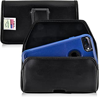 product image for Turtleback Holster Made for Apple iPhone 8 & iPhone 7 with OB Commuter case Black Belt Case Leather Pouch with Executive Belt Clip Horizontal Made in USA