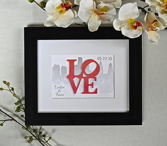 Amazon Com Unique Wedding Gift For Philadelphia Couple Philly