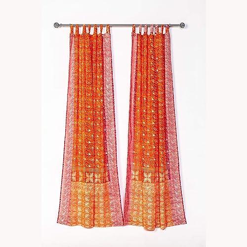 Reviewed: Light-Filtering Sari Colorful Curtains Boho Curtains