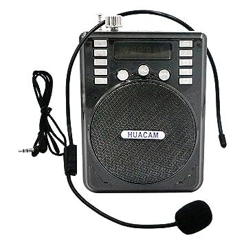 HUACAM hws24 batería Amplificador de la Voz, Sistema de micrófono Altavoz PA portátil, para