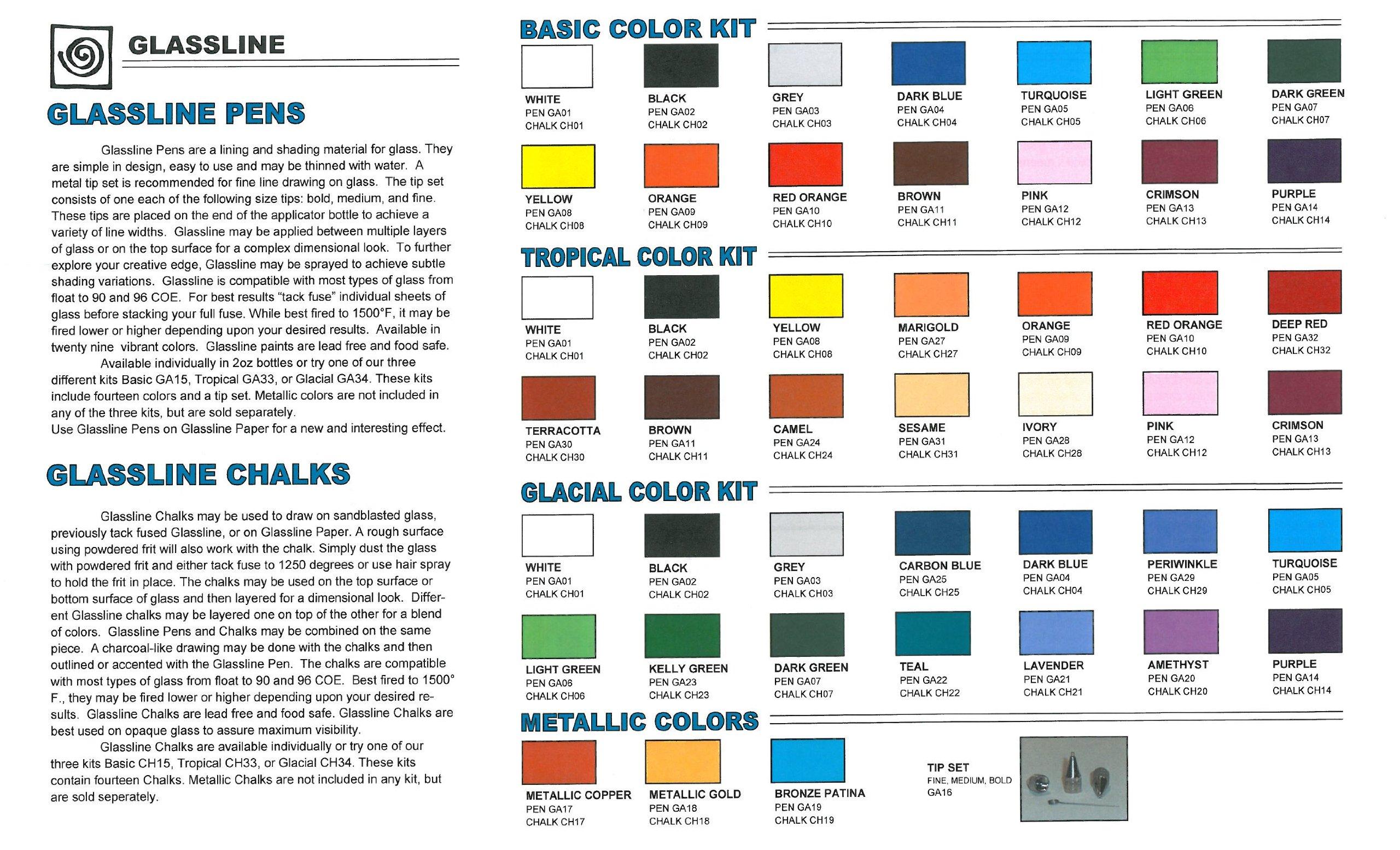 Glassline Paint Pen Assortment by Glassline