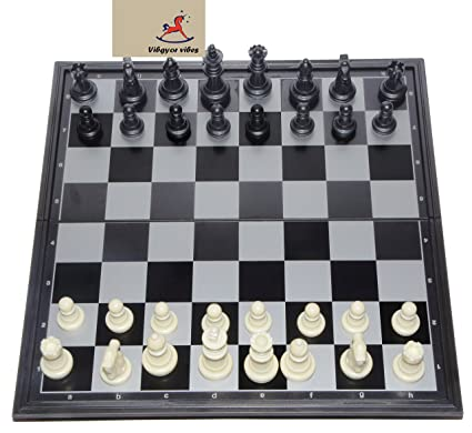 Vibgyor Vibes Folding Magnetic Chess Board (Multicolor)