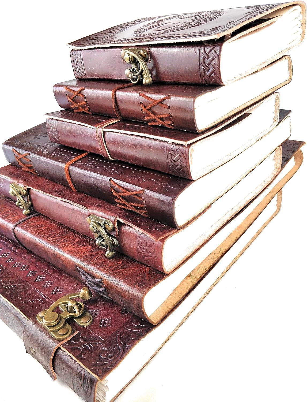 Notizblock Vintage Drache Trib Echtleder Tagebuch 240 Seiten 18 cm x 25 cm Kooly Zen Notizbuch Premiumpapier