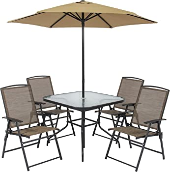 Best Choice Products Outdoor Folding Patio Dining Set