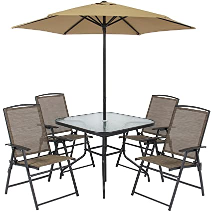 amazon com best choice products 6 piece outdoor folding patio rh amazon com folding patio furniture uk folding patio furniture uk
