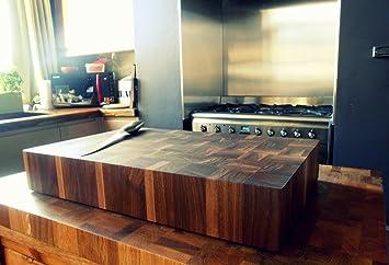80 Mm Bloc De Boucher En Noyer Noir Amazon Fr Cuisine Maison