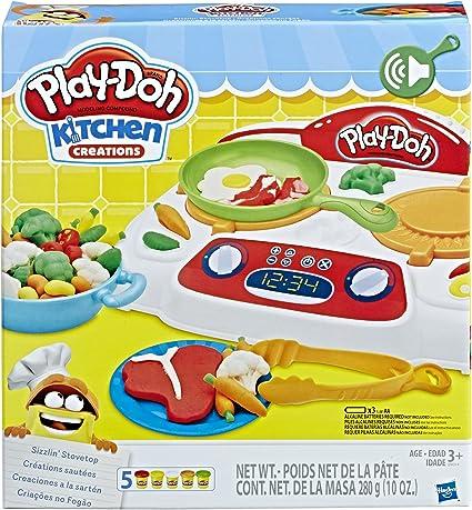 Amazon Com Play Doh Kitchen Creations Sizzlin Stovetop Hasbro Toys Games