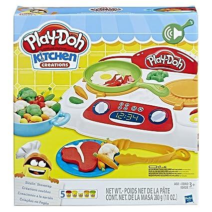 Amazon Com Play Doh B9014 Kitchen Creations Sizzlin Stovetop