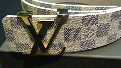 1a13c9ff6543 Image Unavailable. Image not available for. Color  Louis Vuitton INITIALES  40MM REVERSIBLE Belt Black and Blue