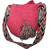 NEW Authentic WAYUU Mochila 100% Colombian Finest Handmade Multi Color Shoulder Bag (4)