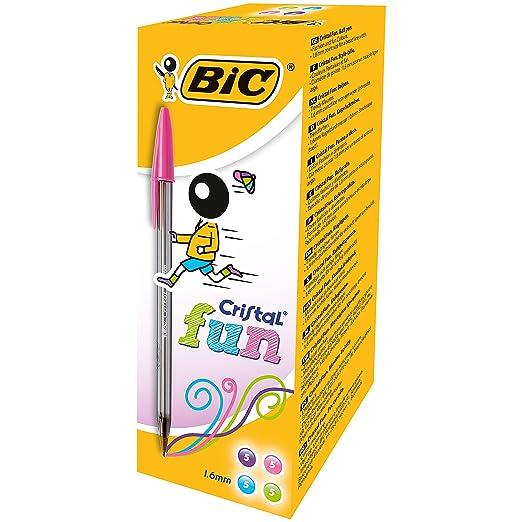 110 opinioni per Bic Cristal Fun Punta Larga 1,6 mm Confezione 20 Penne Colori Assortiti